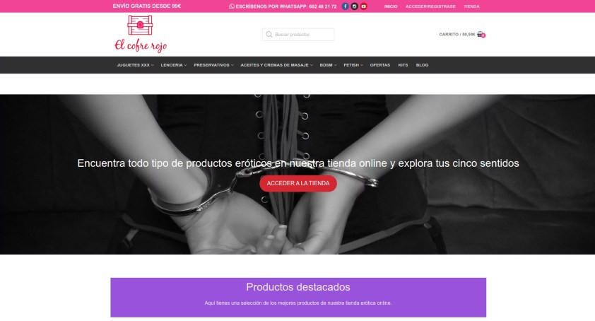 Diseño de tienda online en Madrid frontal