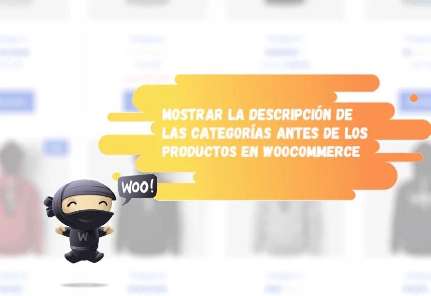 Descripción de categorías en WooCommerce