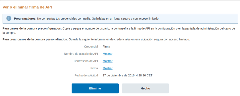 Firma-API-Paypal