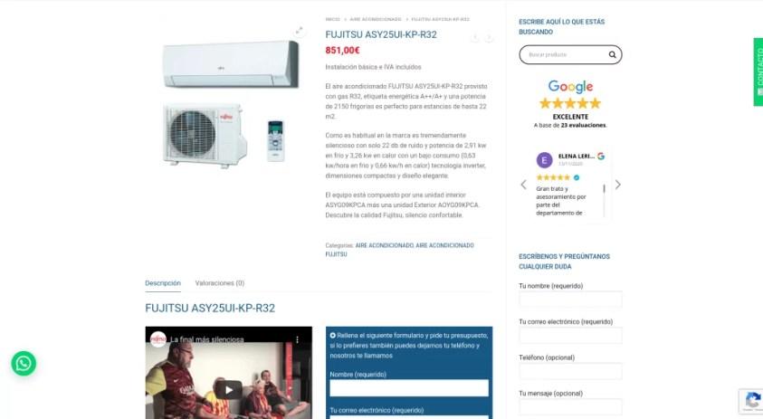 Diseño de catálogo web con formularios 4