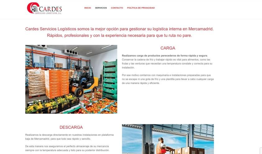 Diseño de página web en Barajas Madrid Cardes 2