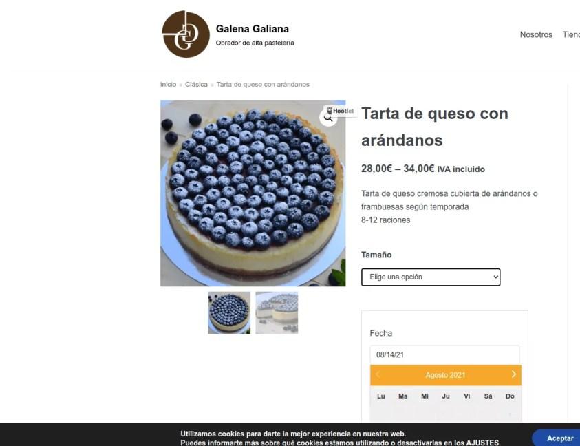 Diseño de pagina web para pastelería 4