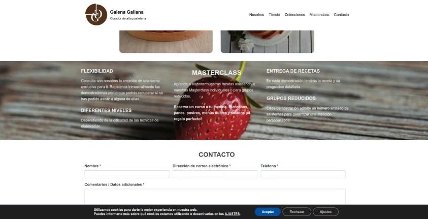 Diseño de pagina web para pastelería 3