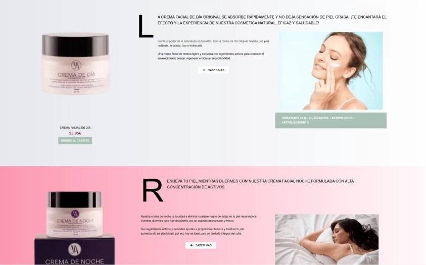 Diseño tienda ecommerce de cosmética - Origival Cosmetics 6
