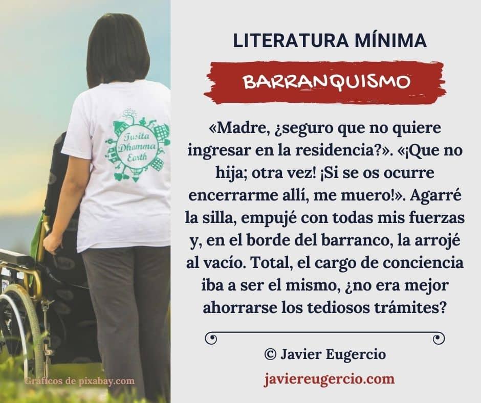 Microrrelato ilustrado de Javier Eugercio: Barranquismo