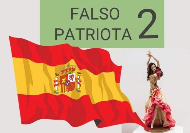 falso patriota segunda parte: portada del relato