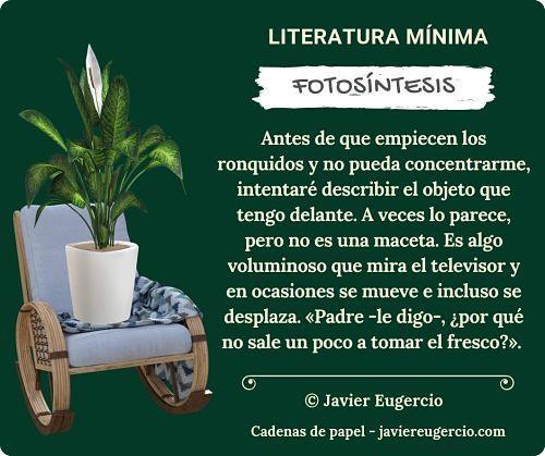 Microrrelato ilustrado de Javier Eugercio: Fotosíntesis