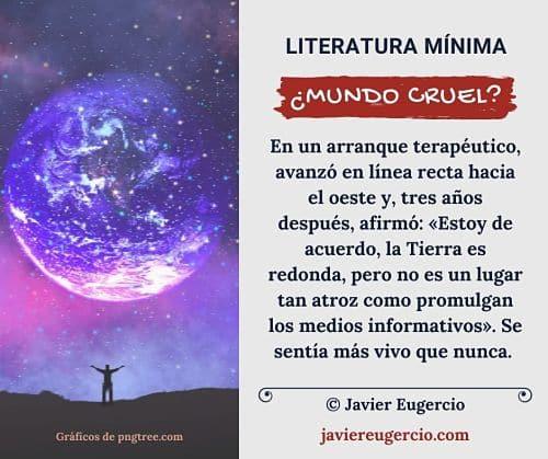 microrrelato ilustrado de Javier Eugercio: Mundo cruel