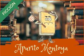 Apurito Montoya entre montones de libros