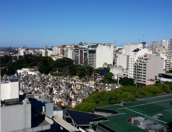 Vista panorámica del cementerio