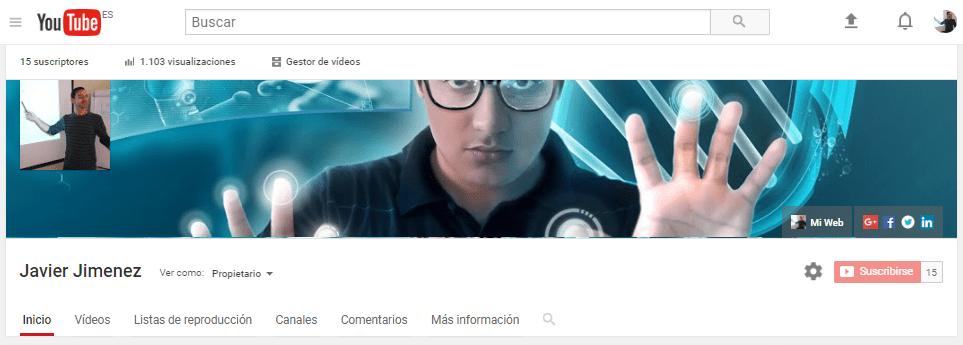 Mi Canal de Informática en YouTube