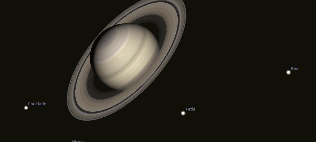Saturno desde Stellarium