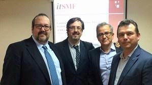 Junta Directiva itSMF España (Tomf Fossett, Javier Peris, Juan Trujillo y Luis Morán)