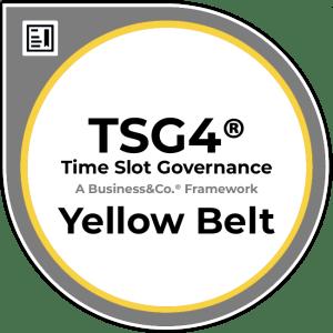 Time Slot Governance TSG4® Yellow Belt Badge