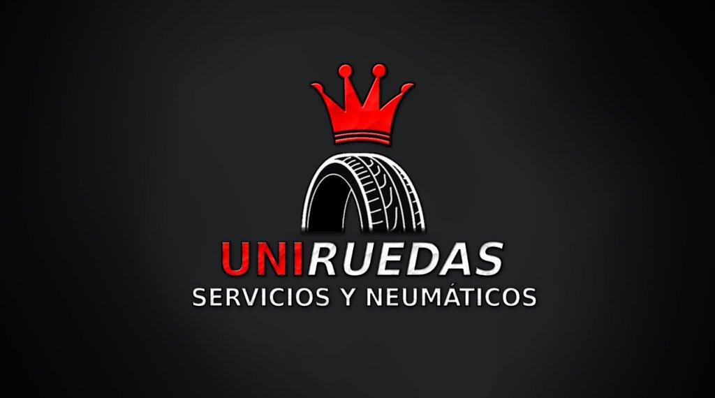 Diseño de Logotipo Uniruedas · Servicios y Neúmaticos · San Andrés y Sauces · La Palma