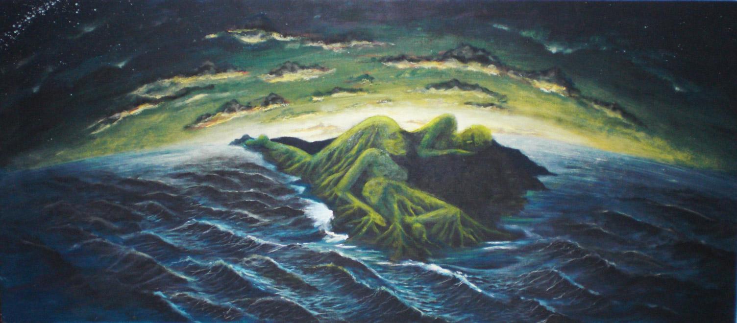 Surrealismo Acrílico sobre tabla 122 x 44 cm. Santa Cruz de Tenerife 2008