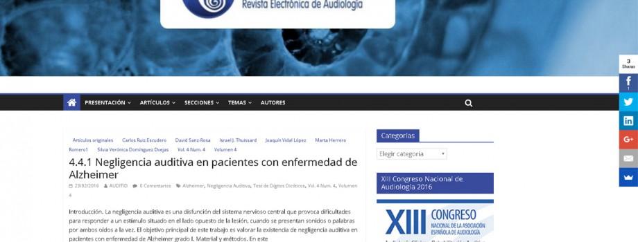 Diseño Web Auditio · Revista Electrónica de Audiología