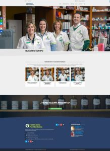 Equipo · Diseño Web Autogestionable WordPress Farmacia Puntallana La Palma