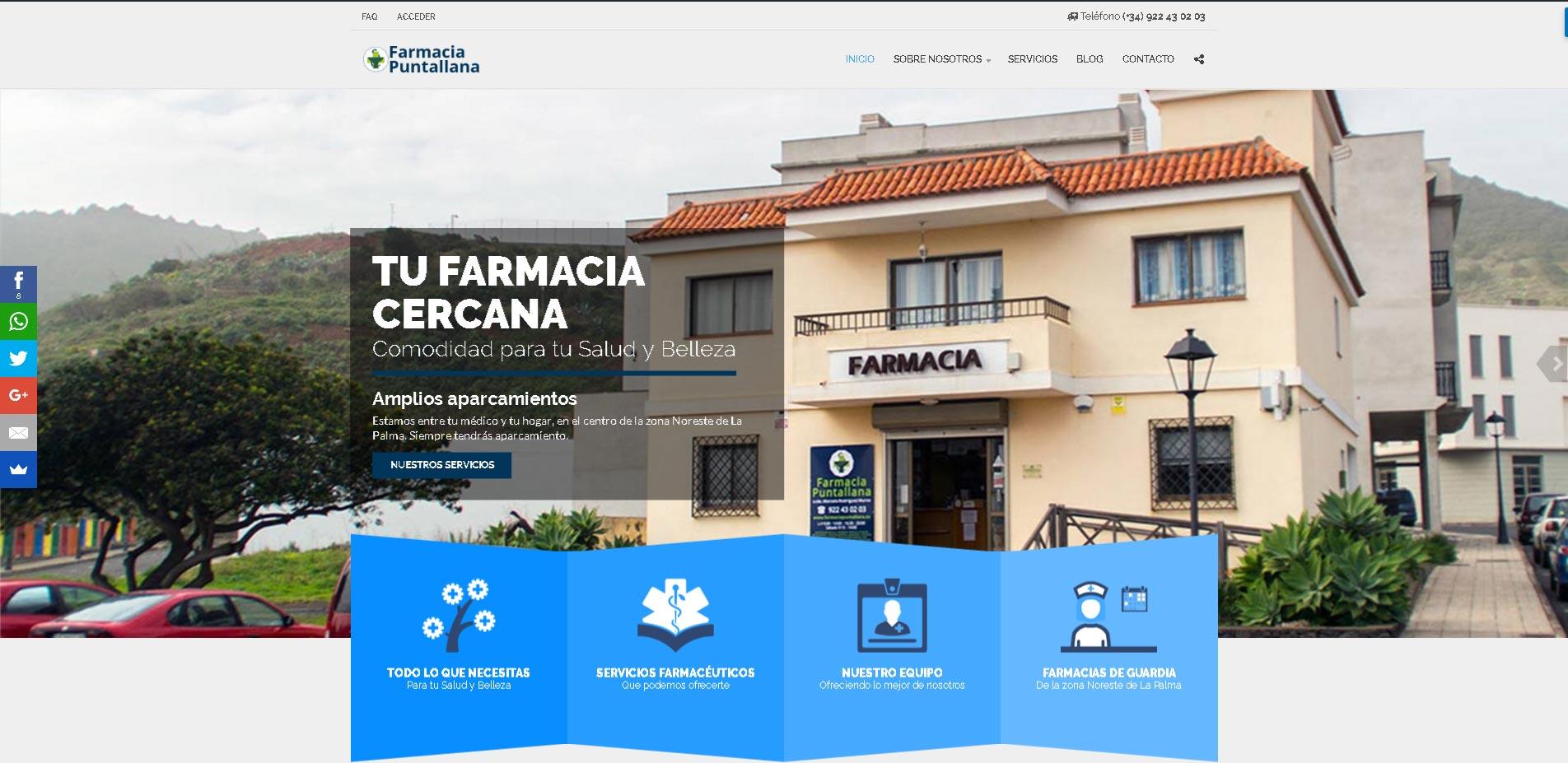 Diseño Web Farmacia Puntallana
