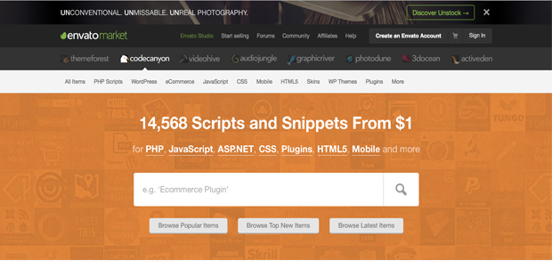 Plugins para WordPress codecanyon