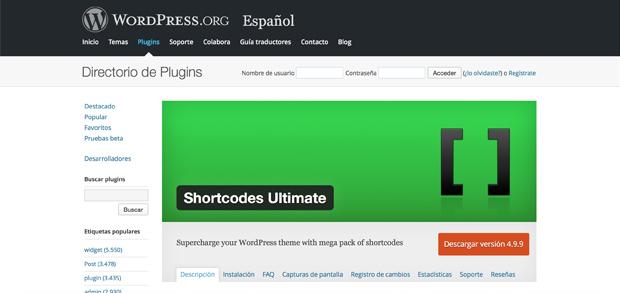 Plugins con Shortcodes