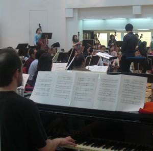 Ensayo con la Orquesta Nacional de Taiwan