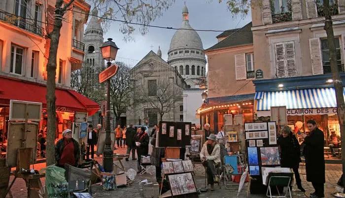 Resultado de imagen de imagenes barrio de montmartre