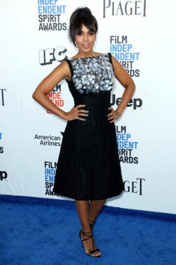 Mandatory Credit: Photo by Matt Baron/BEI/Shutterstock (8434849cq) Kerry Washington 32nd Film Independent Spirit Awards, Arrivals, Santa Monica, Los Angeles, USA - 25 Feb 2017