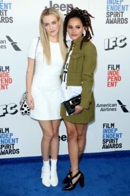 Mandatory Credit: Photo by Matt Baron/BEI/Shutterstock (8434849cd) Riley Keough and Sasha Lane 32nd Film Independent Spirit Awards, Arrivals, Santa Monica, Los Angeles, USA - 25 Feb 2017
