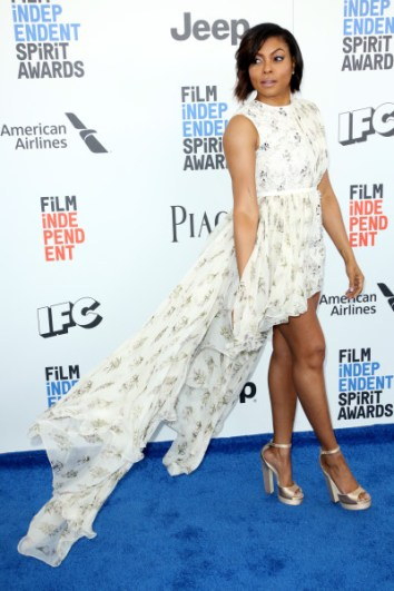 Mandatory Credit: Photo by Matt Baron/BEI/Shutterstock (8434849df) Taraji P Henson 32nd Film Independent Spirit Awards, Arrivals, Santa Monica, Los Angeles, USA - 25 Feb 2017