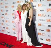 """Actresses (L-R) Naomi Watts, Susan Sarandon and Elle Fanning attend the premiere of the film """"About Ray"""" at TIFF the Toronto International Film Festival in Toronto, September 12, 2015. REUTERS/Fred Thornhill"""