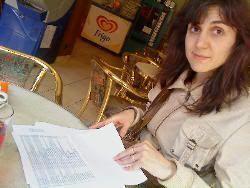 Haciendo planes en una cafetería de Benavente