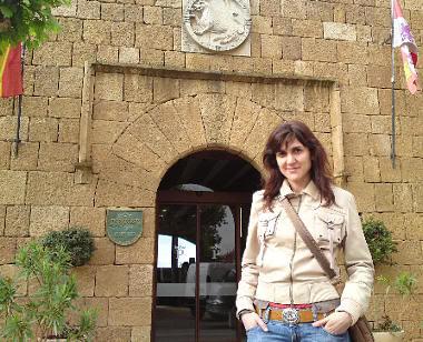 Pilar en el Parador de Benavente