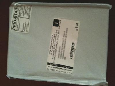 El paquete recién llegado