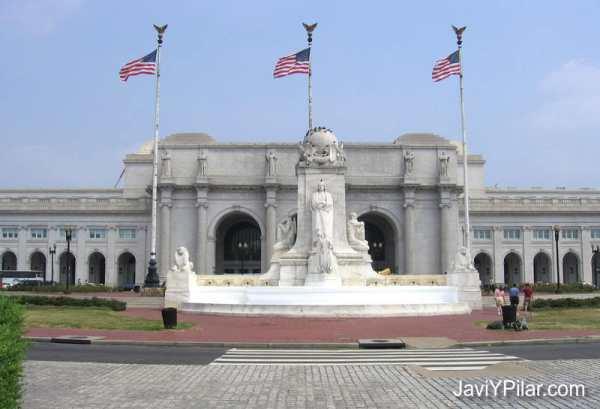 """Estación de tren de Washington D.C. La más grande del mundo hasta hace pocos años. Se utilizó para el rodaje de algunas escenas de """"Los Intocables de Elliot Ness"""""""