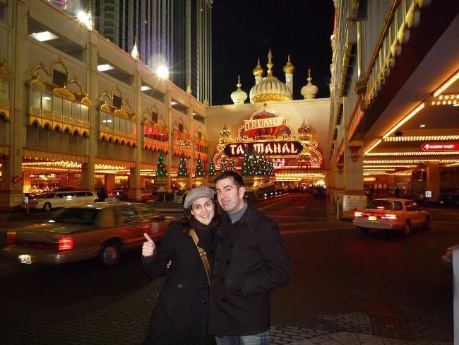 En Atlantic City, a las puertas del casino Taj Mahal