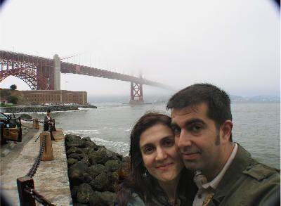 Nosotros con el Golden Gate a la espalda (agosto de 2008)