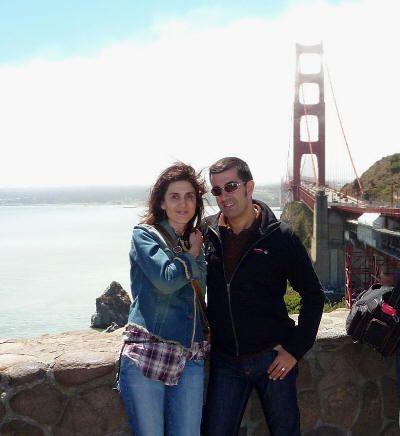 Nosotros con el Golden Gate a la espalda (agosto de 2009)