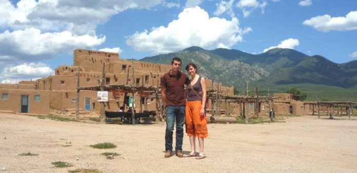 Nosotros en Taos Pueblo en agosto de 2009