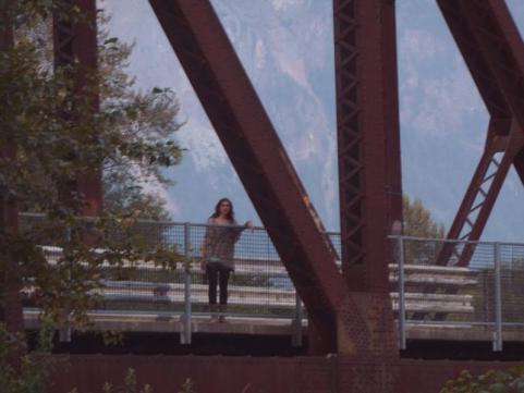 Pilar en el puente en que apareció Ronette Pulaski (Twin Peaks)