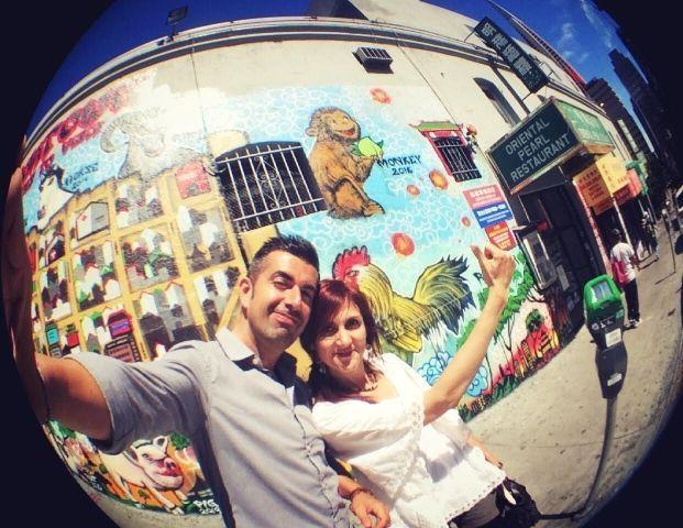 Mural del Año Nuevo Chino del Mono en el barrio chino de San Francisco