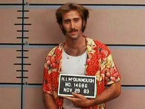 Nicolas Cage en Arizona Baby (Raising Arizona, 1987)