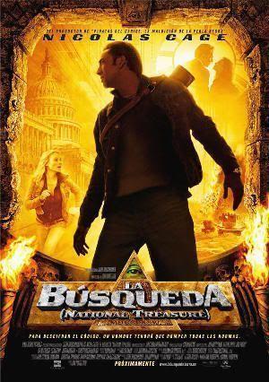 """Cartel de """"La Búsqueda"""" (""""National Treasure"""", 2004)"""