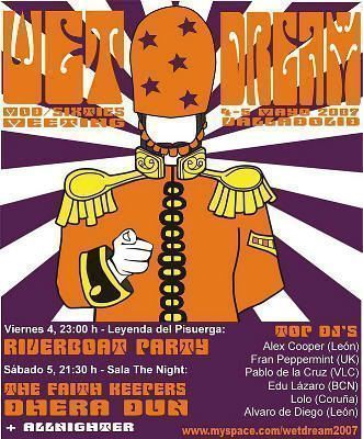 Cartel del festival Wet Dream 2007 (Valladolid, 5 de mayo de 2007)