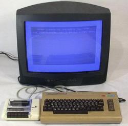Commodore 64 con unidad de cassette