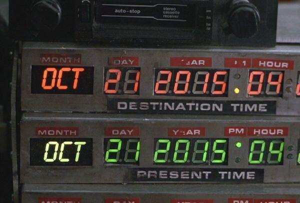 21 de octubre de 2015, fecha en la que marty McFly llega al futuro