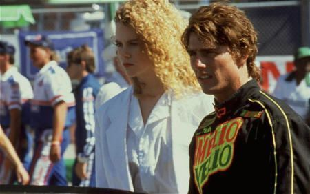 "Nicole Kidman y Tom Cruise en ""Días de Trueno"" (""Days of Thunder"", 1990)"