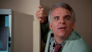"Steve Martin en ""Un genio con dos cerebros"" (""A man with two brains"", 1983)"