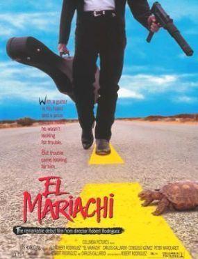 """Cartel de """"El Mariachi"""" (Robert Rodríguez, 1992)"""