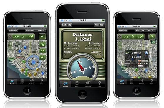 Aplicaciones de Geocaching